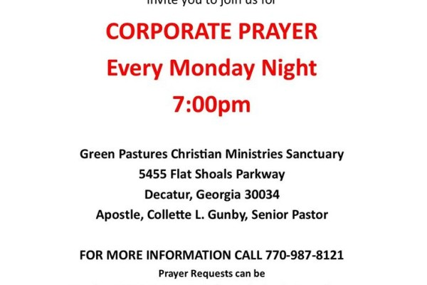 Corporate Prayer Flyer